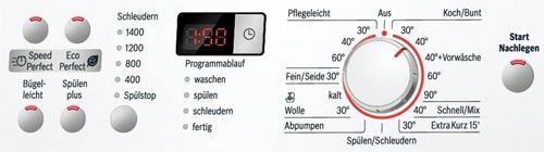Bosch WAQ28321 Bedienfeld