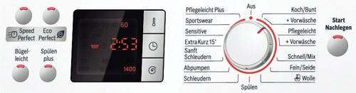 Bosch WAS28443 Bedienfeld