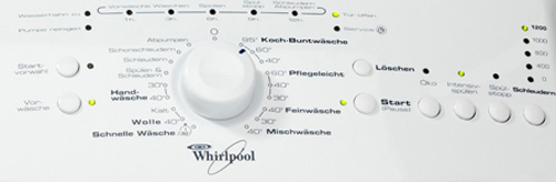 Whirlpool AWE 5125 Bedienfeld