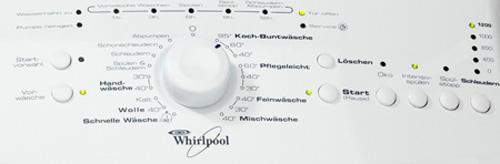 Whirlpool AWE 5125 Bedienfeld